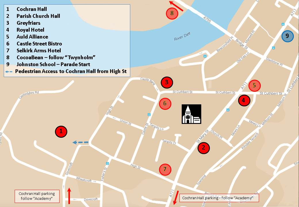 Venue Map - Kirkcudbright Jazz Festival
